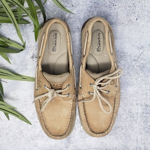 Sperry Topsider | Tan Leather Boat Shoes